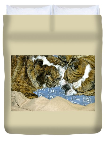 Bulldog Love Forever  Duvet Cover
