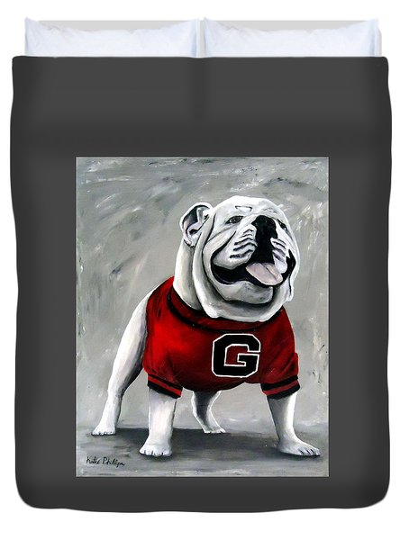Uga Bullog Damn Good Dawg Duvet Cover