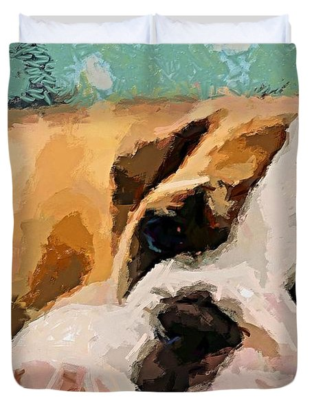 Bulldog Puppy Duvet Cover