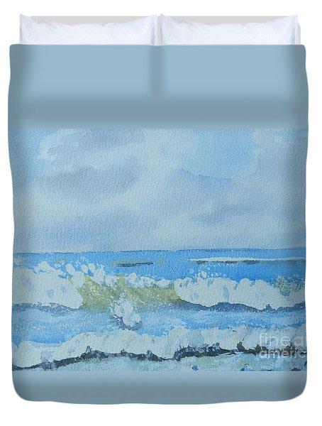 Bulli Beach Duvet Cover by Pamela  Meredith