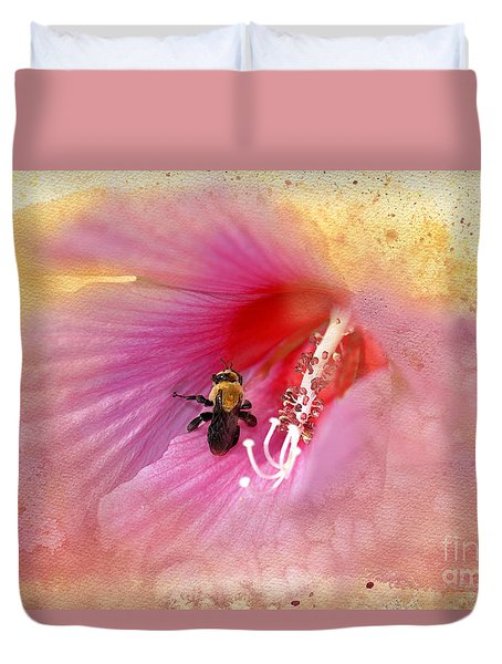 Bumble Bee Bliss Duvet Cover by Betty LaRue