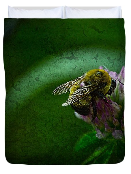Bumble Bee Tattered Wings Art 2 Duvet Cover