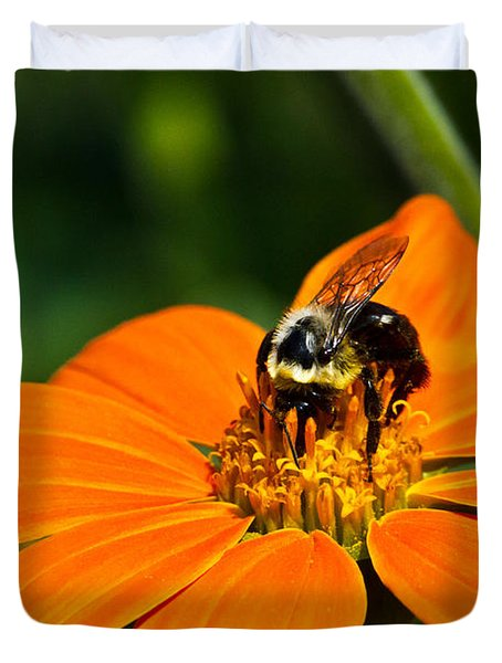 Bumblebee Hard At Work Duvet Cover