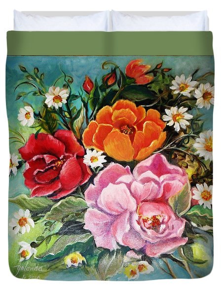 Bunch Of Flowers Duvet Cover by Yolanda Rodriguez