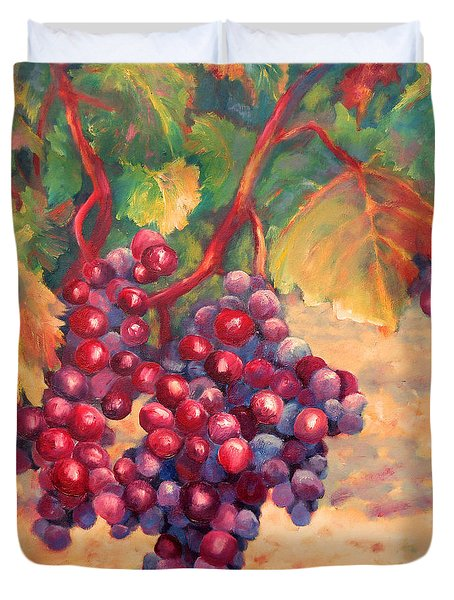 Bunch Of Grapes Duvet Cover by Carolyn Jarvis