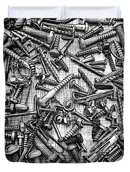 Bunch Screws 2 - Digital Effect Duvet Cover by Debbie Portwood