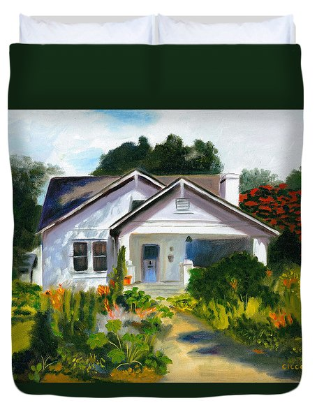 Bungalow In Sunlight Duvet Cover