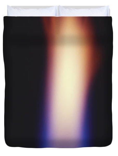 Bunsen Burner Flame Duvet Cover