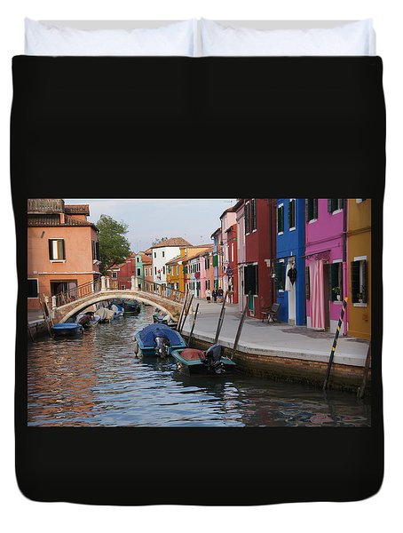 Burano Duvet Cover by Debi Demetrion