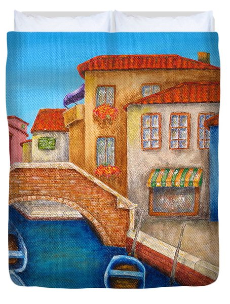 Burano Duvet Cover by Pamela Allegretto