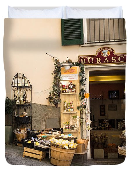 Burasca Shop Of Manarola Duvet Cover