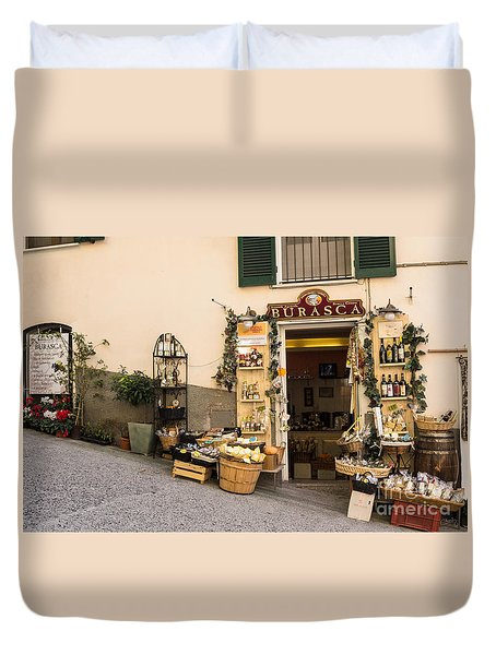 Burasca Shop Of Manarola Duvet Cover