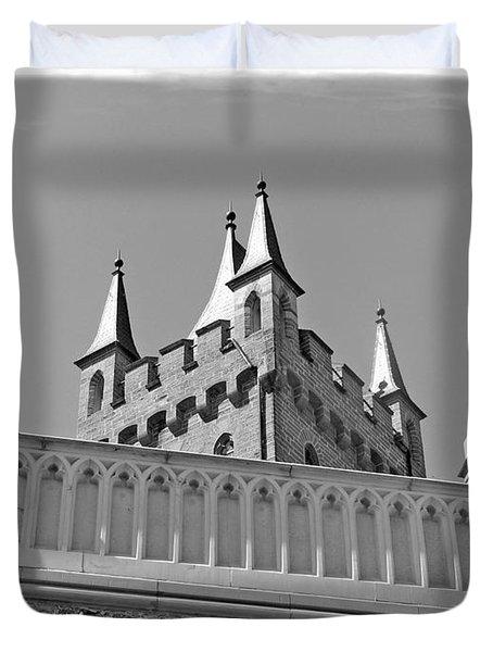 Duvet Cover featuring the photograph Burg Hohenzollern by Carsten Reisinger