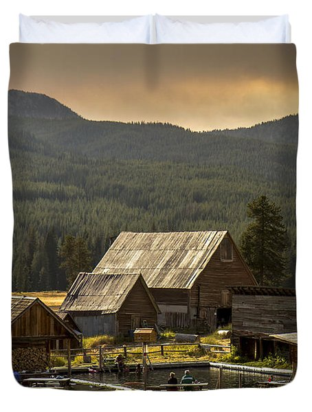 Burgdorf Hot Springs In Idaho Duvet Cover