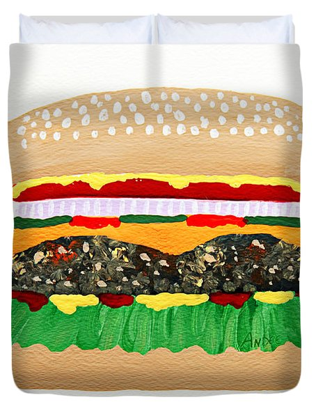 Burger Me Duvet Cover by Andee Design