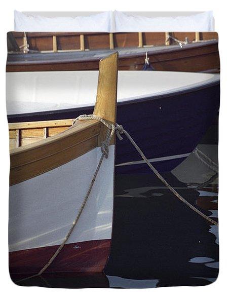 Burgundy Boat Duvet Cover