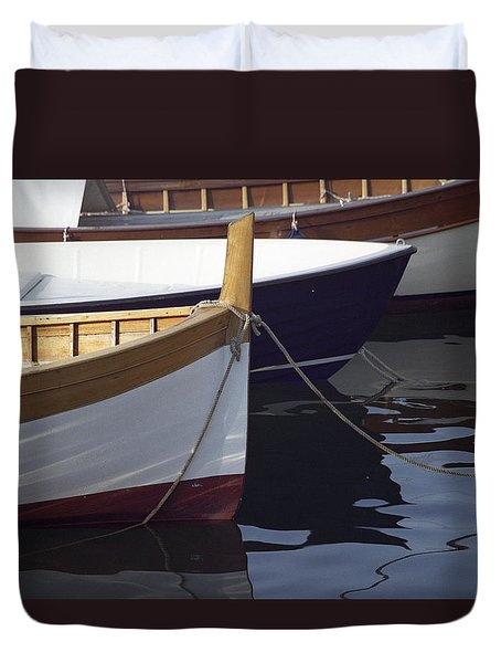 Burgundy Boat Duvet Cover