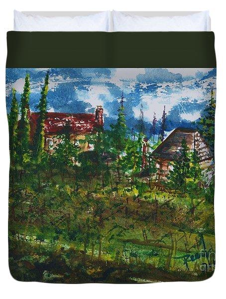 Burgundy In The Morning  Duvet Cover
