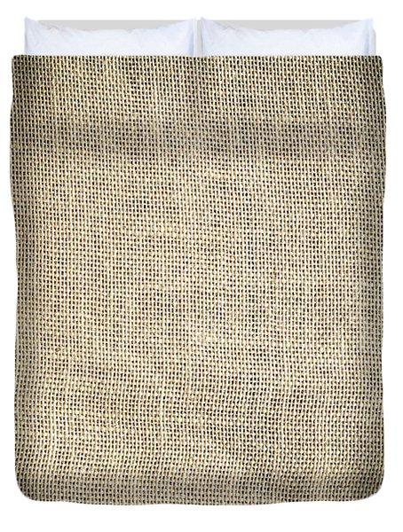 Burlap Texture Background Duvet Cover