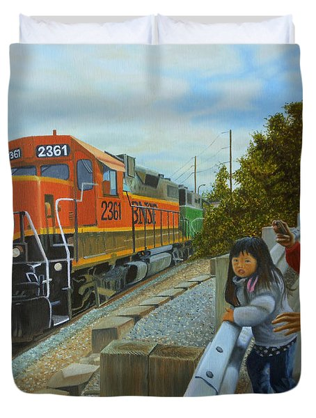Burlington Northern Santa Fe Duvet Cover