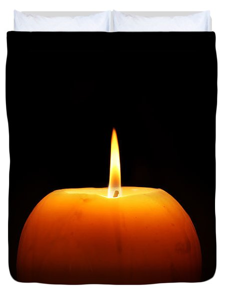 Burning Candle Duvet Cover