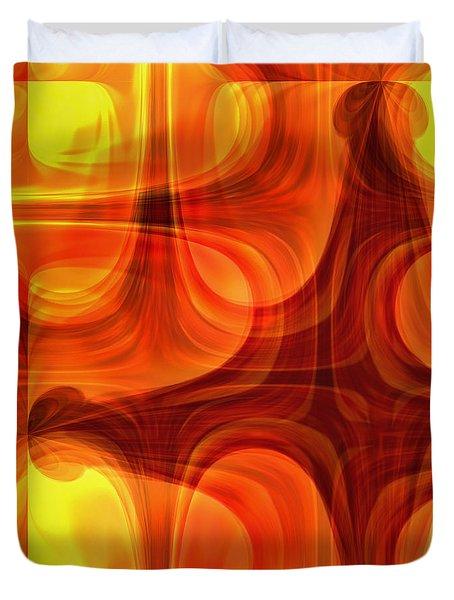 Burning Cross Duvet Cover by Martina  Rathgens