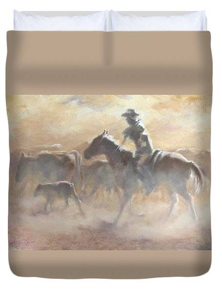 Burning Daylight Duvet Cover by Mia DeLode