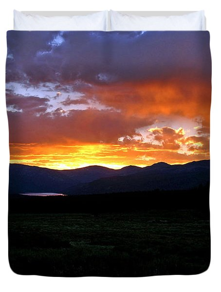 Duvet Cover featuring the photograph Burning Of Uncertainty by Jeremy Rhoades