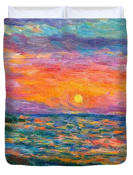 Burning Shore Duvet Cover