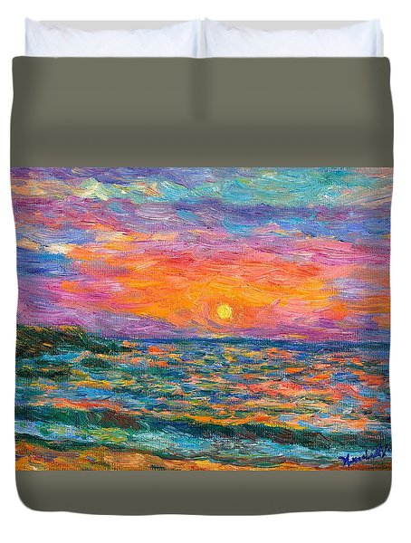 Burning Shore Duvet Cover by Kendall Kessler