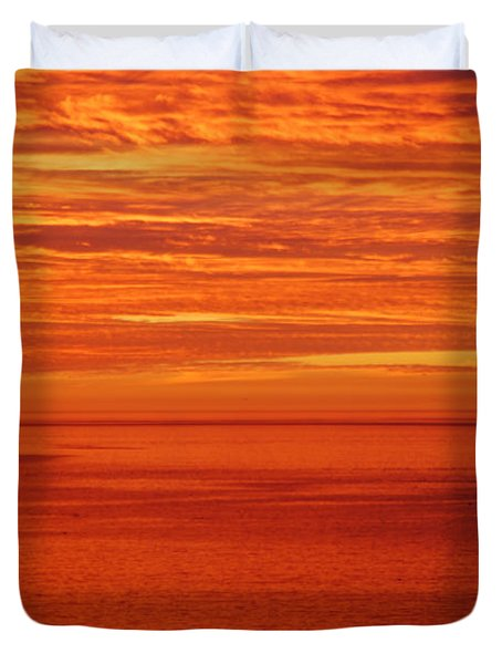 Burning Sky Duvet Cover