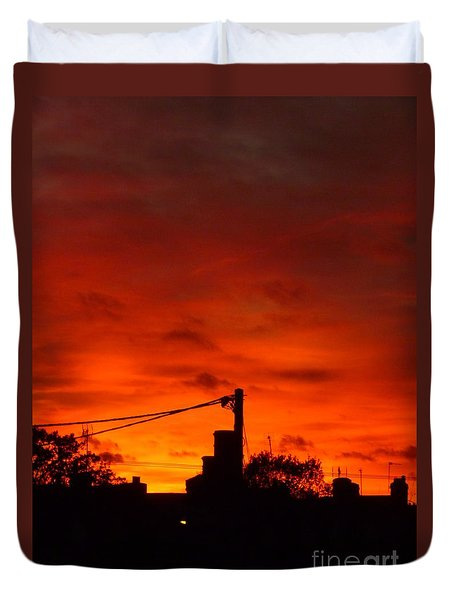 Burning Sky Duvet Cover by Vicki Spindler