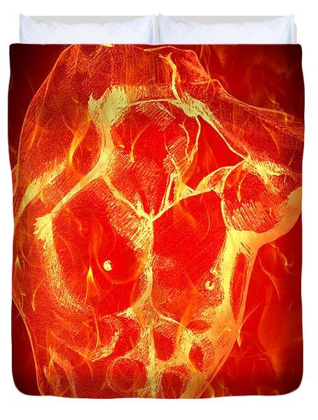Burning Up  Duvet Cover