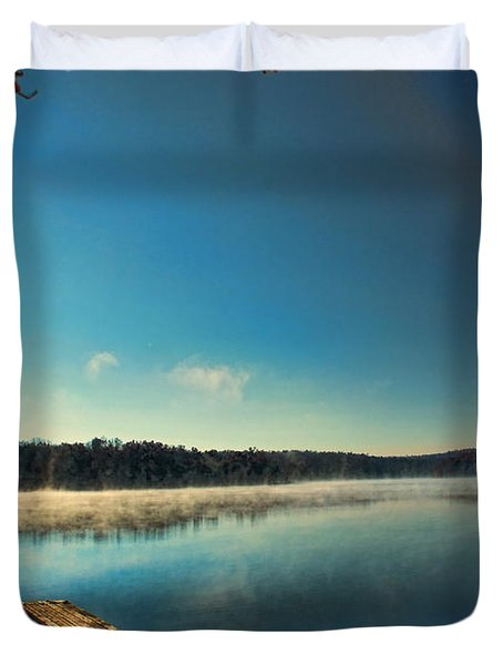 Burning Water Duvet Cover