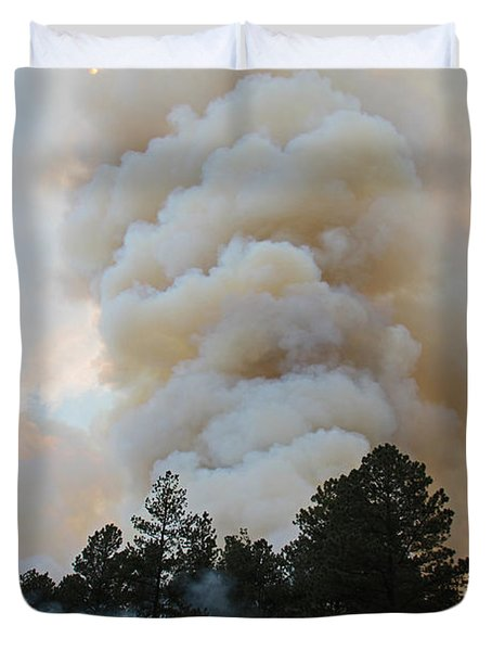 Duvet Cover featuring the photograph Burnout Near Song Dog Road by Bill Gabbert