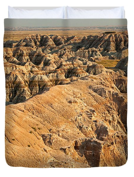 Burns Basin Overlook Badlands National Park Duvet Cover