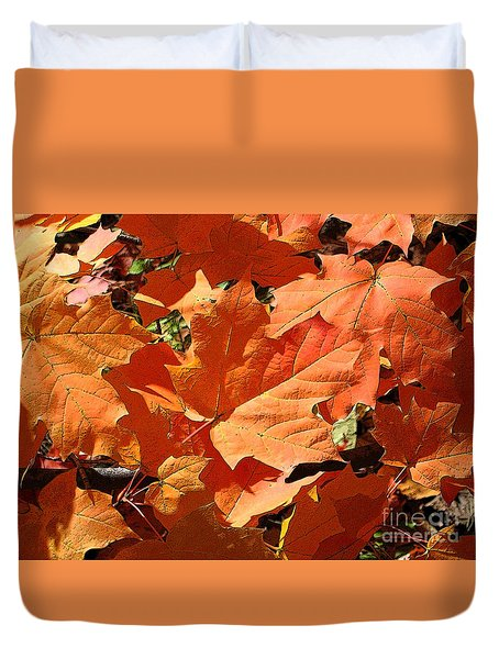 Burnt Orange Duvet Cover by Ann Horn