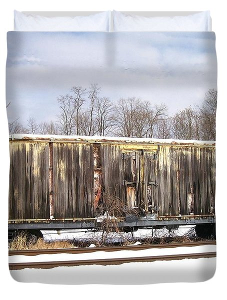 Duvet Cover featuring the photograph Burnt by Sara  Raber