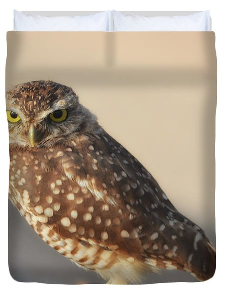 Burrowing Owl  Duvet Cover