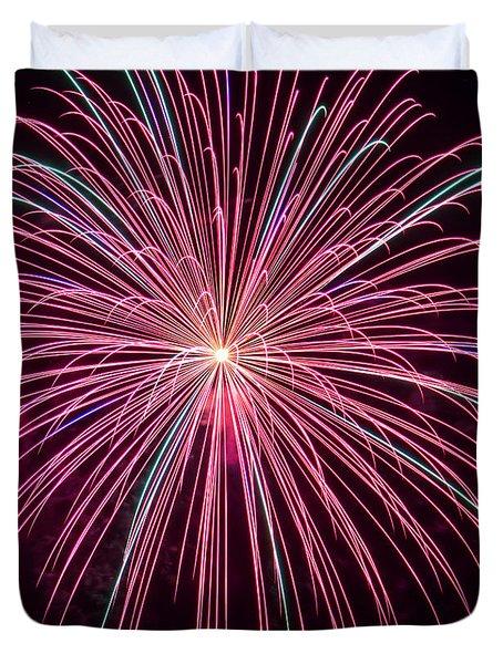 4th Of July Fireworks 24 Duvet Cover by Howard Tenke