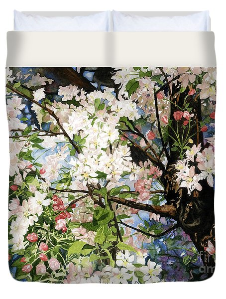 Burst Of Spring Duvet Cover by Barbara Jewell