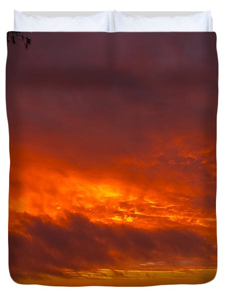 Bursting Sky Duvet Cover