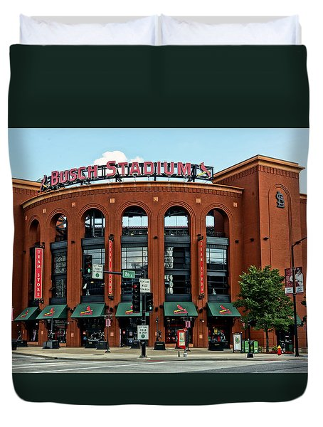Busch Stadium Home Of The St Louis Cardinals Duvet Cover by Greg Kluempers