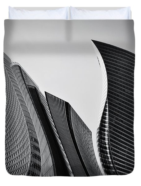 Business Skyscrapers Abstract Conceptual Architecture Duvet Cover by Michal Bednarek
