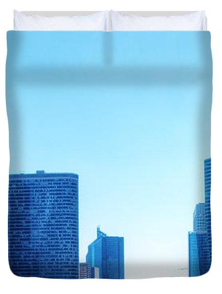 Business Skyscrapers  Paris France Duvet Cover by Michal Bednarek