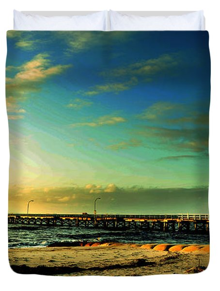 Busselton Jetty Duvet Cover by Yew Kwang