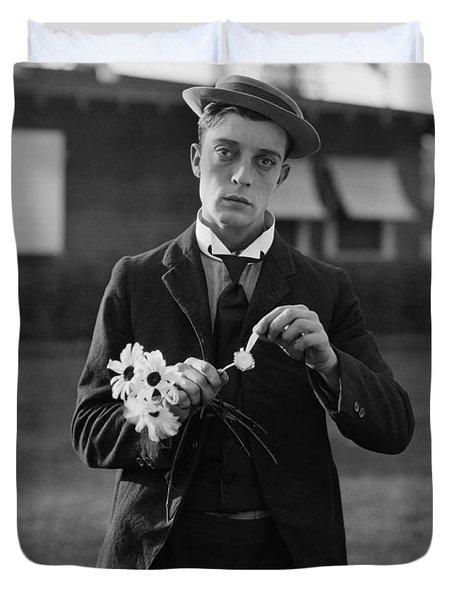 Buster Keaton Portrait Duvet Cover