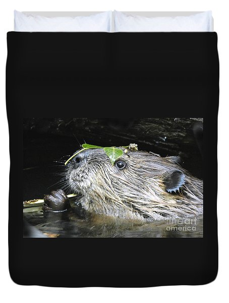 Busy Beaver Duvet Cover