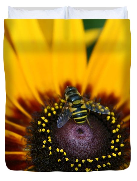 Busy Bee Duvet Cover by Denyse Duhaime
