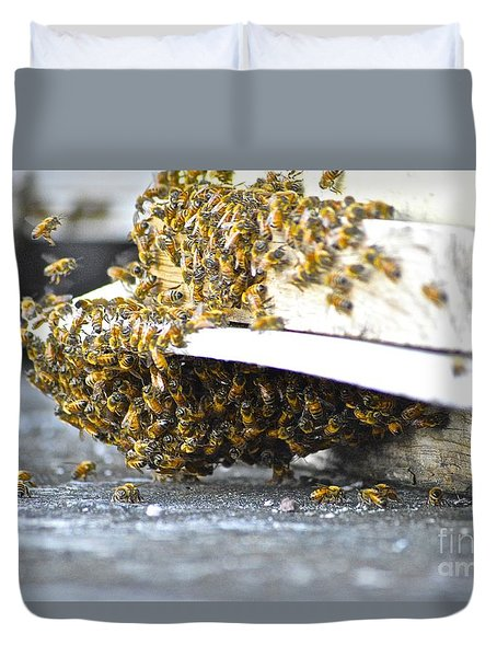 Busy Bees Duvet Cover by Laura Forde